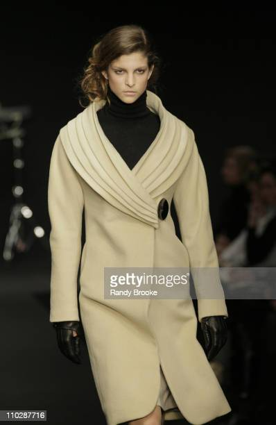 Model wearing Krizia Autumn/Winter 2006 during Milan Fashion Week Autumn/Winter 2006 Krizia Runway at Via Manin 21 in Milan Italy