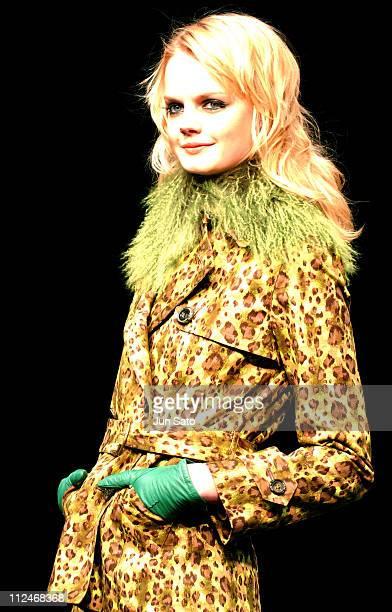 Model wearing Kyoko Higa Fall 2004 during Tokyo Fashion Week Fall-Winter 2004 - Kyoko Higa at Quest Hall in Tokyo, Japan.