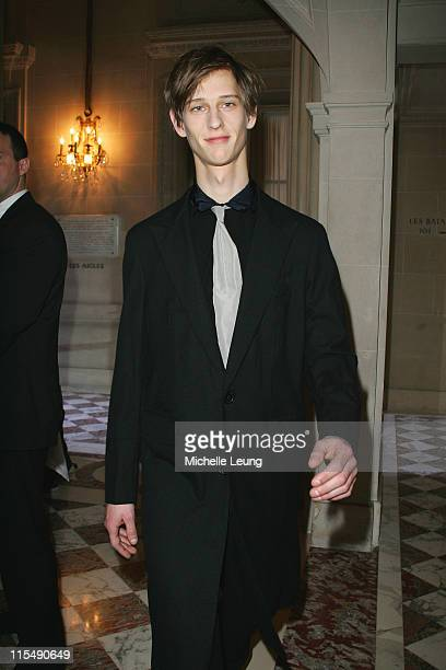 Model wearing Lanvin Fall/Winter 2007 during Paris Menswear Fashion Week Fall/Winter 2007 - Lanvin - Runway at Hotel de Crillon in Paris, France.