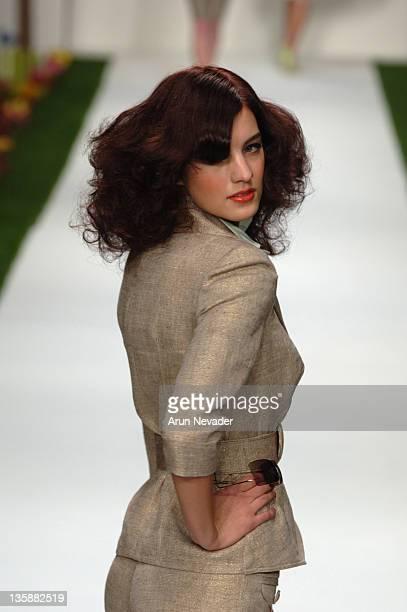 Model wearing Louis Verdad Spring 2006 during MercedesBenz Spring 2006 LA Fashion Week at Smashbox Studios Louis Verdad Runway at Smashbox Studios in...