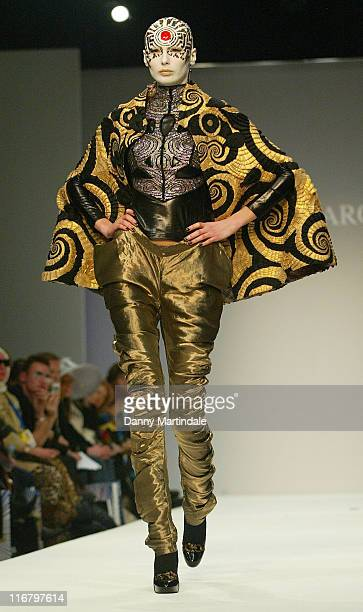 Model wearing Manish Arora Fall/Winter 2007 during London Fashion Week Fall/Winter 2007 Manish Arora Runway at BFC Tent Natural History Museum in...