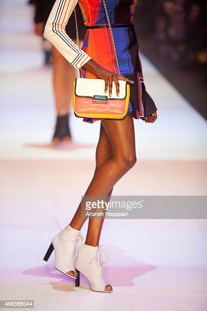 Model wearing Manning Cartell at the opening of the 2015 Melbourne Fashion Festival on March 14 2015 in Melbourne Australia