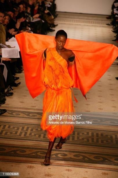 Model wearing Maurizio Galante Spring/Summer 2007 during Paris Fashion Week Haute Couture Spring/Summer 2007 - Maurizio Galante - Runway at Musee...