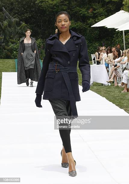 Model Wearing MaxMara Fall/Winter 2006 during MaxMara and the C.H.I.P.S Host A Luncheon Benefitting The Children's Institute Incorporated at Century...