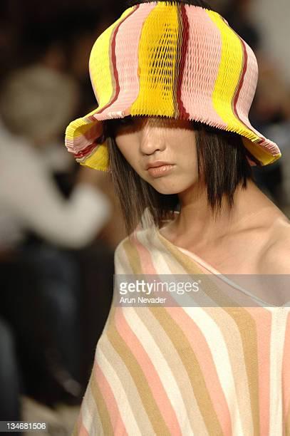 Model wearing Meghan Spring 2007 during MercedesBenz Spring 2007 Los Angeles Fashion Week at Smashbox Studios Meghan Runway at Smashbox in Culver...