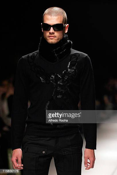Model wearing Miguel Vieira Fall/Winter 2007 during Lisbon Fashion Week Fall/Winter 2007 Miguel Vieira Runway at The National Museum of Natural...