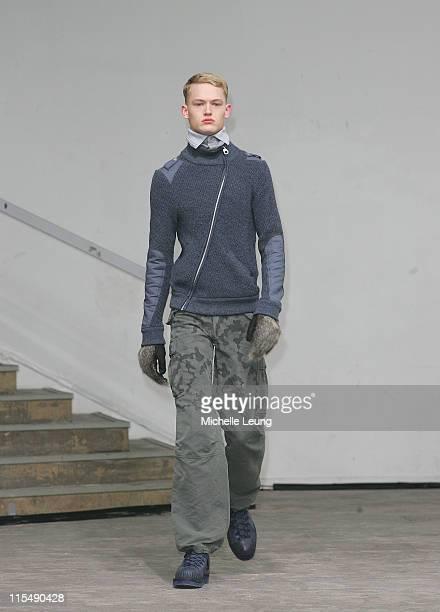 Model wearing Miharayasuhiro Fall/Winter 2007 during Paris Menswear Fashion Week Fall/Winter 2007 - Miharayasuhiro - Runway at Palais de Tokyo in...