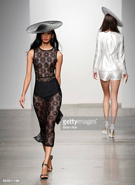 A model wearing Misha Collection is seen walking the runway during the Fashion Palette Australia show during New York Fashion Week Spring 2015 at...