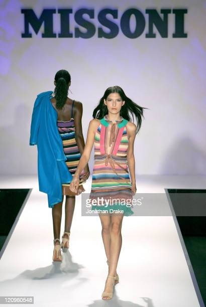 Model wearing Missoni spring/summer 2006 during Singapore Fashion Festival 2006 - Missoni - Runway at The Tent at Ngee Ann City, Orchard Road in Ngee...