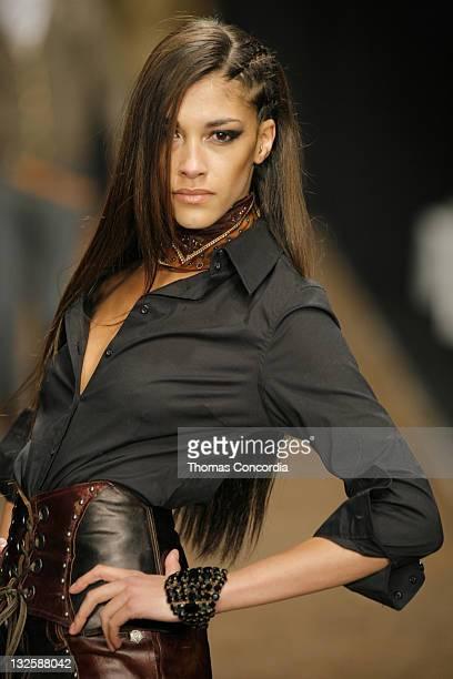 Model wearing Monarchy Collection Fall 2007 during MercedesBenz Fall 2007 LA Fashion Week at Smashbox Studios Monarchy Collection Runway at Smashbox...