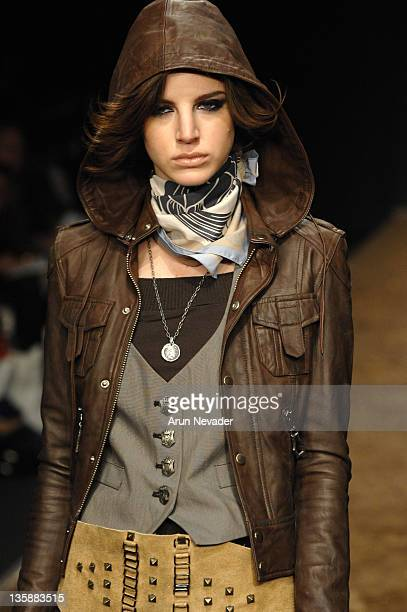 Model wearing Monarchy Collection Fall 2007 during MercedesBenz Fall 2007 LA Fashion Week at Smashbox Studios Monarchy Collection Runway at Smashbox...