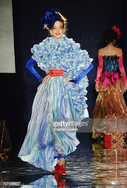 Model wearing Monica Moss Fall 2007 during Design Cares An Evening of Enchantment Benefiting St Jude Children's Research Hospital at The Puck...