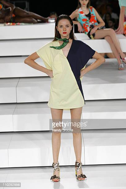Model wearing Neon Spring/Summer 2006 during Sao Paulo Fashion Week Spring/Summer 2006 Neon Runway at Museum of Modern Art in Sao Paulo Brazil
