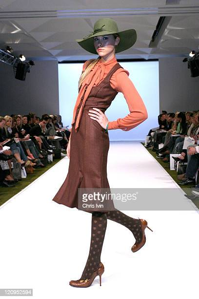 Model wearing New Generation 1 collections during Mercedes Australian Fashion Week - Autumn/Winter Collections - New Generation 1 - Runway in...