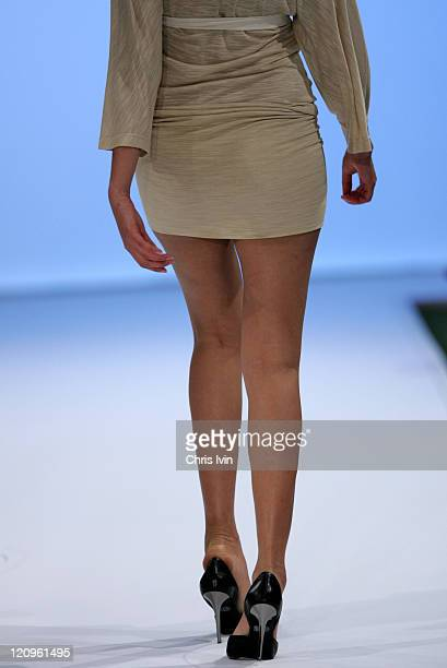 Model wearing New Generation 2 during Mercedes Australian Fashion Week - Autumn/Winter Collections - New Generation 2 - Runway at Federation Square...