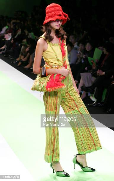Model wearing Pak DongJun during Seoul Fashion Week Spring/Summer 2005 Collections Pak DongJun at Seoul Trade Exhibition Center in Seoul South South...