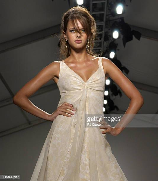 Model wearing Pamella Roland Spring 2004 and Chopard Jewelry
