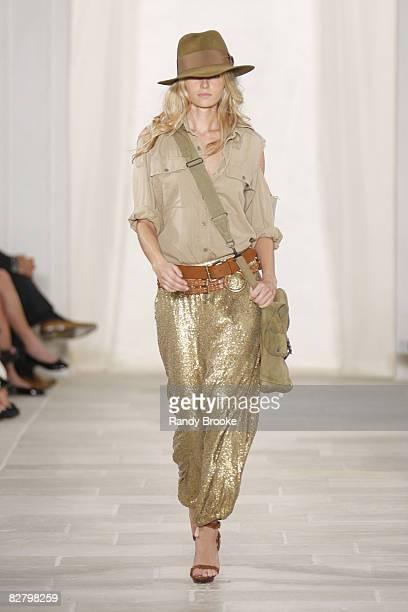 A model wearing Ralph Lauren is seen during Spring 2009 at Skylight Studio on September 12 2008 in New York City
