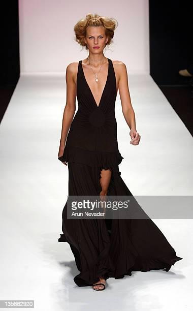 Model wearing Rami Kashou Spring 2005 Collection during Mercedes-Benz Spring 2005 Fashion Week at Smashbox Studios - Rami Kashou - Runway at Smashbox...
