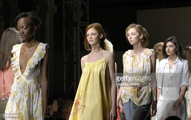 Model wearing Rebecca Taylor Spring 2006