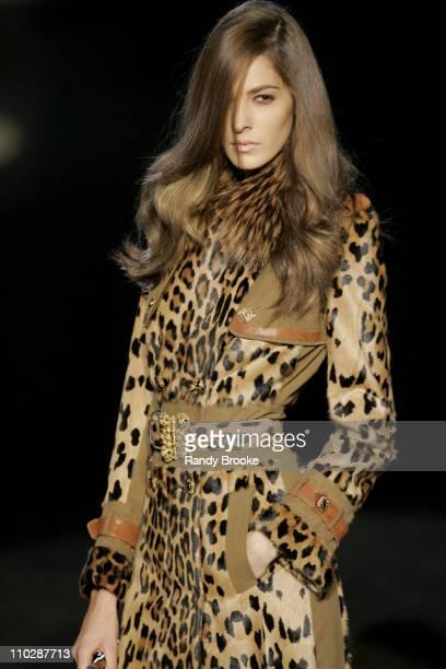 Model wearing Roberto Cavalli Autumn/Winter 2006 during Milan Fashion Week Autumn/Winter 2006 Roberto Cavalli Runway at Arco della Pace Piazza...