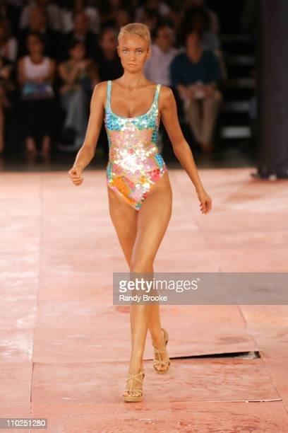 Model wearing Rosa Cha Spring/Summer 2006 during Sao Paulo Fashion Week Spring/Summer 2006 Rosa Cha Womenswear Runway at Museum of Art Moderne in Sao...