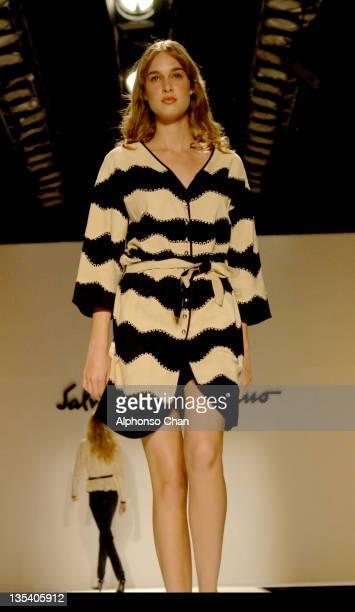 Model wearing Salvatore Ferragamo Spring/Summer 2006