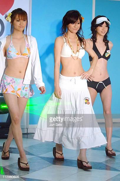 Model wearing Sanai Swimwear 2006 during Sanai Swimwear 2006 Presscall at Ikebukuro Sunshine City in Tokyo Japan