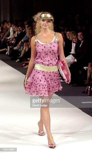Model wearing Scott Henshall during London Fashion Week Spring 2005 Scott Henshall Runway at Old Satchi Gallery in London Great Britain