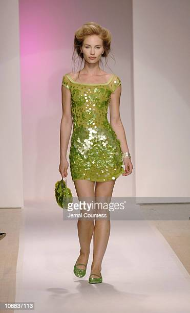 Model wearing Sebastion Pons Fall 2005 during Fashion Show Featuring the Stars of the Balearic Islands as Presented by Minister Josep Juan Cardona at...