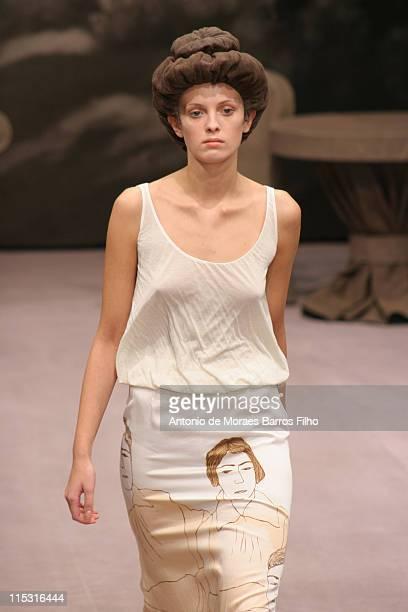 Model wearing Spring/Summer 2007 Alena Akhmadullina