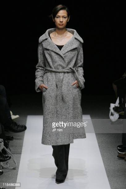 Model wearing support surface Fall/Winter 2007 during Tokyo Fashion Week Fall/Winter 2007 - support surface - Runway at Izumi Garden Gallery in...