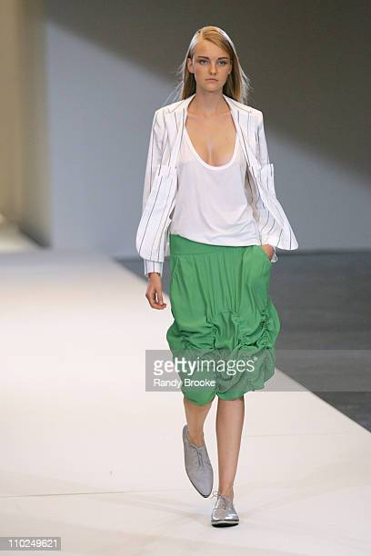 Model wearing Uma Spring/Summer 2006 during Sao Paulo Fashion Week Spring/Summer 2006 Uma Runway at Museum of Art Moderne in Sao Paulo Brazil