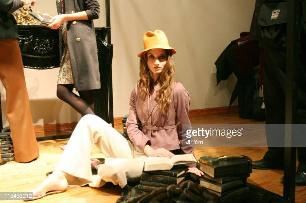 Model wearing Vena and Cava Fall 2006 during Olympus Fashion Week Fall 2006 Vena Cava Presentation at 33 West 19th St in New York City New York...