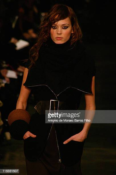 Model wearing Veronique Leroy Fall/Winter 2007 during Paris Fashion Week Fall/Winter 2007 -Veronique Leroy - Runway in Paris, France.