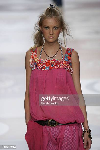 Model wearing Vide Bula Spring/Summer 2006 during Sao Paulo Fashion Week Spring/Summer 2006 Vide Bula Runway at Museum of Modern Art