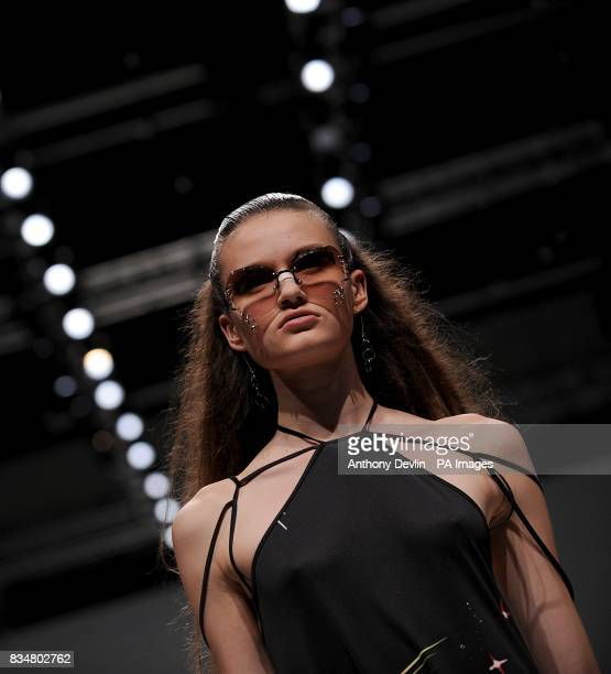 A model wears a creation by Ann Sophie Back during London Fashion Week at the Topshop Venue P3 University of Westminster 35 Marylebone Road NW1 5LS