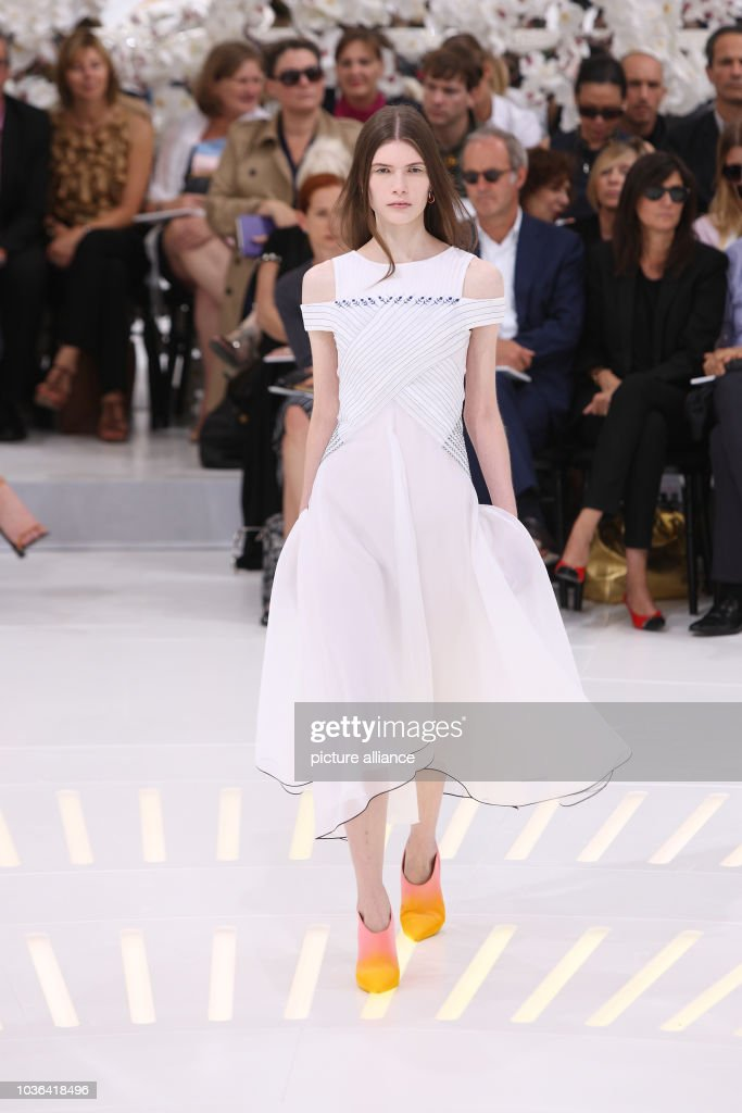 A model wears a creation by Belgian designer Raf Simons as part of Dior  fall  d3994dd8c0ae5