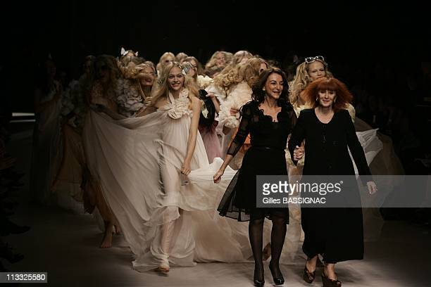 Model Wears A Creation By French Designers Sonia Rykiel And Her Daughter Nathalie Rykiel The Artistic Director For The Fashion House Rykiel For Their...