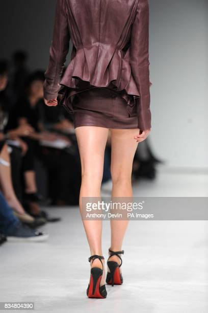 A model wears a creation by Todd Lynn during London Fashion Week at the Topshop Venue P3 University of Westminster 35 Marylebone Road NW1 5LS
