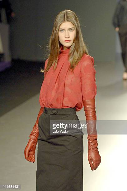 A model wears a creation from Angel Schlesser's Fall Winter 20062007 Collection