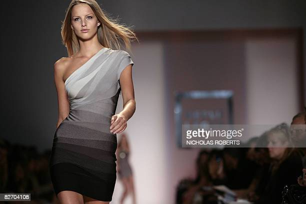 b762b0db42a8 A model wears a creation from the Herve Leger by Max Azria spring 2009  collection at