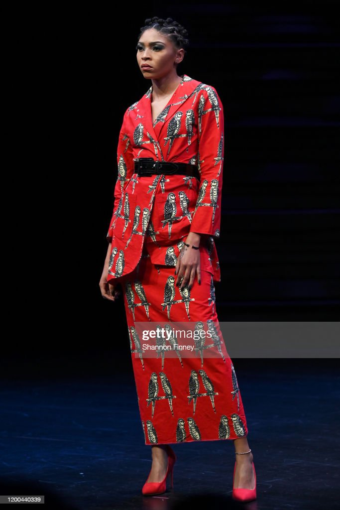 A Model Wears An Outfit By Washington Dc Based Designer Belle News Photo Getty Images