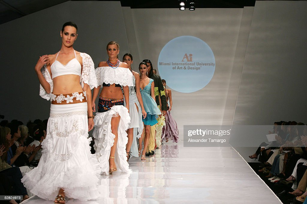 A Model Wears Fashions By Design Students Of Miami International News Photo Getty Images