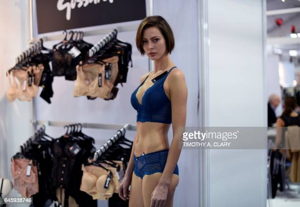 e46737aebe735 A model wears fashions by  Goddard  during the CURVENEWYORK Mode Lingerie  and Swim show