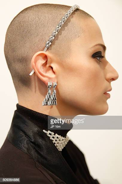 A model wears Lulu Frost during New York Fashion Week Fall 2016 at Highline Loft on February 10 2016 in New York City