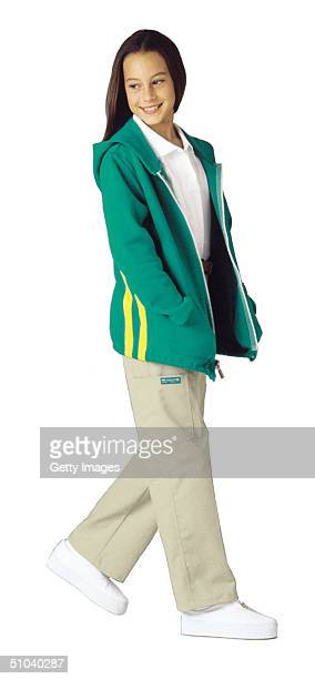 Model Wears The New 2001 Junior Girl Scout Uniform In This Undated Photo. In A Dramatic Overhaul Of Their Image, The Girl Scouts Unveiled New,...