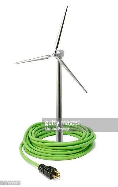 Model wind turbine and electrical cord
