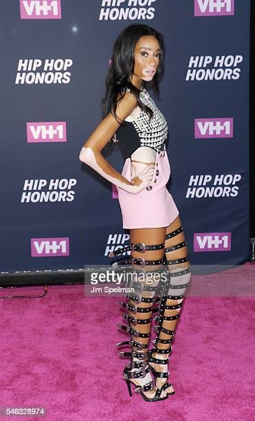 Model Winnie Harlow attends the 2016 VH1 Hip Hop Honors All Hail The Queens at David Geffen Hall on July 11 2016 in New York City