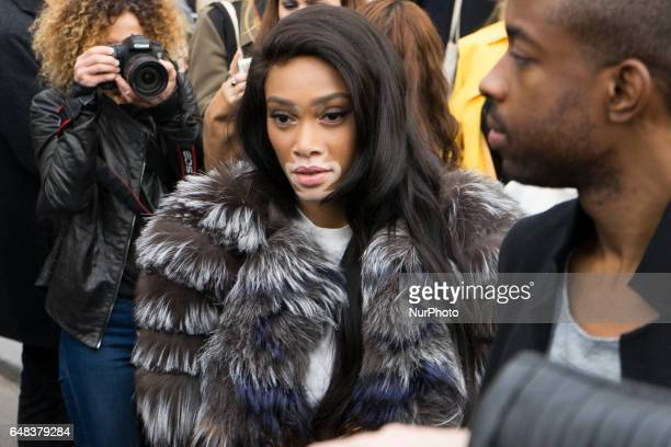 Model Winnie Harlow attends the Dior Fashion Show Week Fall/Winter 2017/18 on March 3 2017 in Paris France